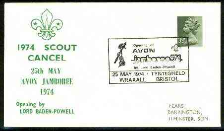 Great Britain 1974 Commemorative cover for Avon Jamboree with special illustrated cancel