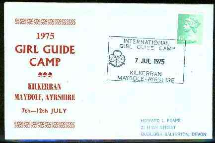 Great Britain 1975 Commemorative cover for Kilkerran Girl Guide Camp with special illustrated cancel