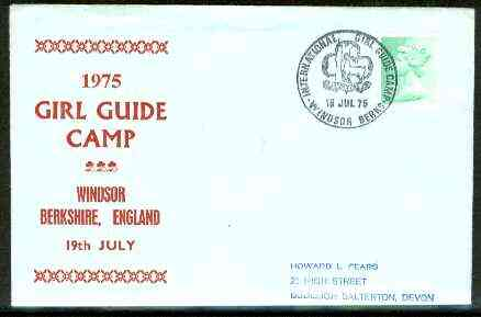 Great Britain 1975 Commemorative cover for Windsor Girl Guide Camp with special illustrated cancel