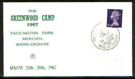 Great Britain 1967 Commemorative cover for Greenwood Camp with special illustrated first day cancel