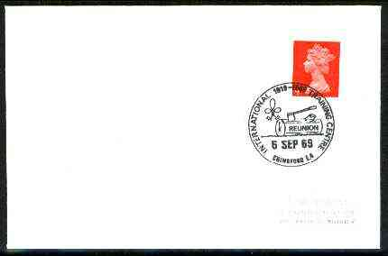 Great Britain 1969 Plain cover with special illustrated Chingford Int Training Centre 'Reunion' cancel