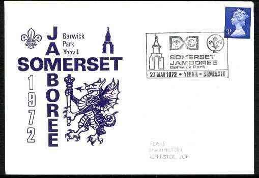 Great Britain 1972 commemorative cover for Barwick Park Jamboree with special illustrated cancel