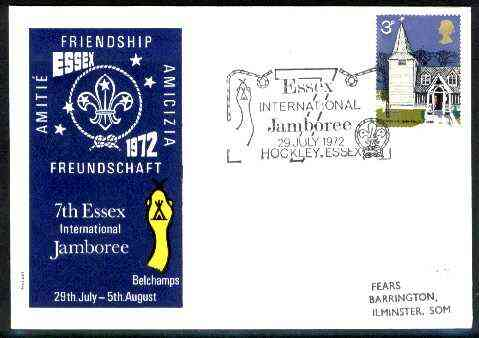 Great Britain 1972 illustrated cover for 7th Essex International Jamboree with special illustrated cancel