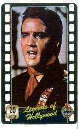 Telephone Card - Legends of Hollywood - Elvis Presley #7 - Limited Edition 20 units phone card (card No UT 0489)