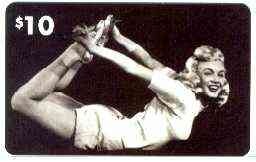 Telephone Card - Marilyn Monroe $10 phone card (B & W horiz pose) by LDC (France) limited edition of just 1,000