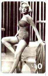 Telephone Card - Marilyn Monroe $10 phone card (B & W wearing swimwear) by LDC (France) limited edition of just 1,000