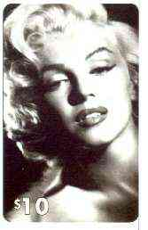 Telephone Card - Marilyn Monroe $10 phone card (B & W portrait) by LDC (France) limited edition of just 1,000