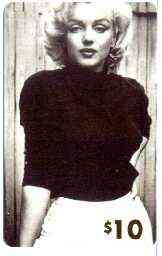 Telephone Card - Marilyn Monroe $10 phone card (B & W wearing dark jumper) by LDC (France) limited edition of just 1,000