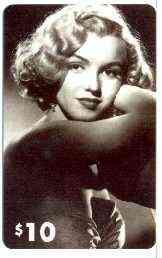 Telephone Card - Marilyn Monroe $10 phone card (B & W in evening dress) by LDC (France) limited edition of just 1,000