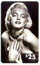 Telephone Card - Marilyn Monroe $25 phone card (B & W ) by LDC (France) limited edition of just 1,000