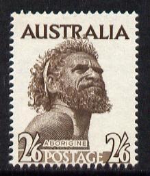 Australia 1965 Aborigine 2s6d sepia (no wmk) unmounted mint SG 253b*