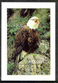 Karjala Republic 1997 Wild Birds (Eagle) perf m/sheet unmounted mint