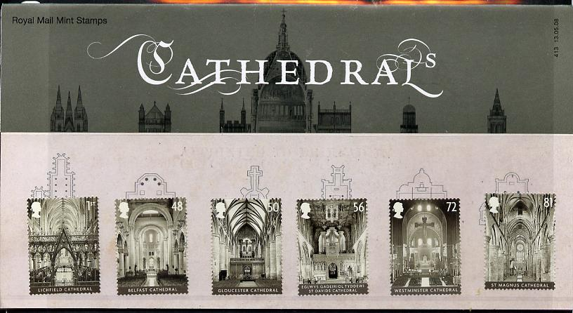 Great Britain 2008 Cathedrals perf set of 6 in official presentation pack SG 2841-46