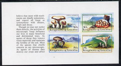 Booklet - Lesotho 1983 Fungi complete set of 4 in unmounted mint imperf booklet pane (SG 532b)