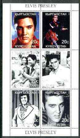 Kyrgyzstan 1999 Elvis Presley perf sheetlet containing 6 values unmounted mint