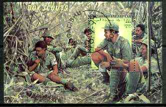 Somalia 1999 Scouts perf m/sheet fine cto used, stamps on , stamps on  stamps on scouts
