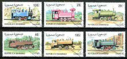Sahara Republic 1999 Locomotives complete set of 6 values fine cto used*