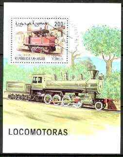 Sahara Republic 1999 Locomotives perf m/sheet fine cto used