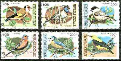 Togo 1999 Birds complete set of 6 values fine cto used*