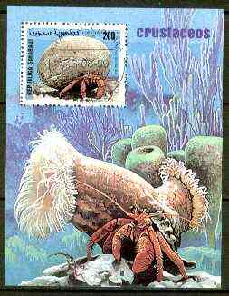 Sahara Republic 1999 Crabs perf m/sheet fine cto used