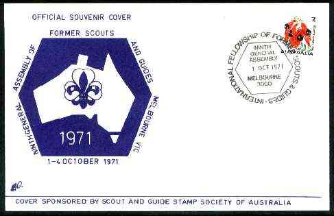 Australia 1971 9th Assembly of Former Scouts & Guides commemorative cover with special General Assembly cancel