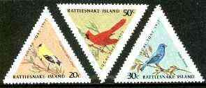 Cinderella - Rattlesnake Island (USA) 1977 Birds set of 3 triangulars unmounted mint