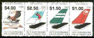 Cinderella - Hutt River Province 1994 24th Anniversary Issue (Airlines) unmounted mint strip of 4