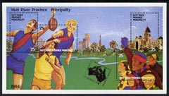 Cinderella - Hutt River Province 1984 Australian Football m/sheet containing set of 4 values unmounted mint