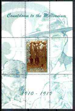 Angola 1999 Countdown to the Millennium #02 (1910-1919) perf souvenir sheet (Girl Guides & Scouting) unmounted mint
