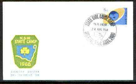Australia 1968 Commemorative cover for Lismore Girl Guide Camp with special illustrated cancel