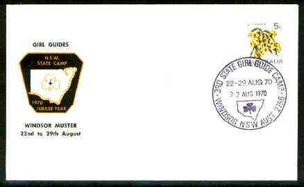 Australia 1970 Commemorative cover for Windsor Muster Girl Guide Camp with special illustrated cancel