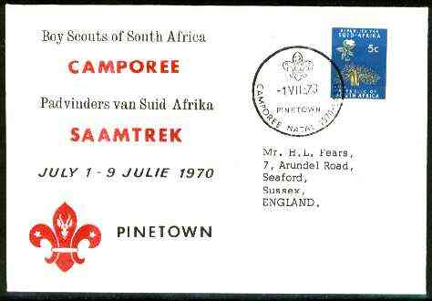 South Africa 1970 Commemorative cover for Natal Camporee with special illustrated cancel