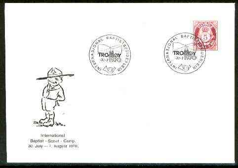 Norway 1970 Commemorative cover for International Baptist Scout Camp with special illustrated cancel