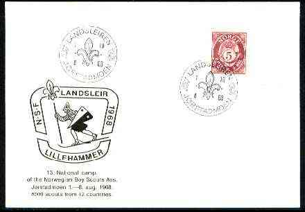 Norway 1969 Commemorative card for J�rstadmoen National Scout Camp with special illustrated cancel