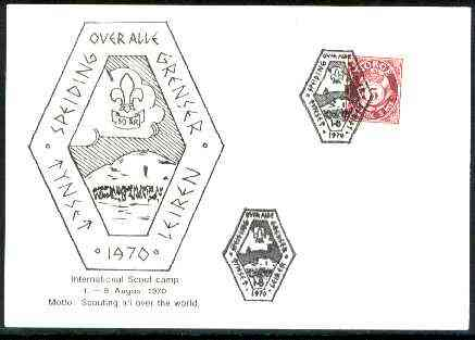 Norway 1970 Commemorative card for International Scout Camp with special illustrated cancel