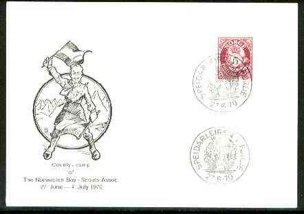 Norway 1970 Commemorative card for Speidarleiren F�rde County Scout Camp with special illustrated cancel