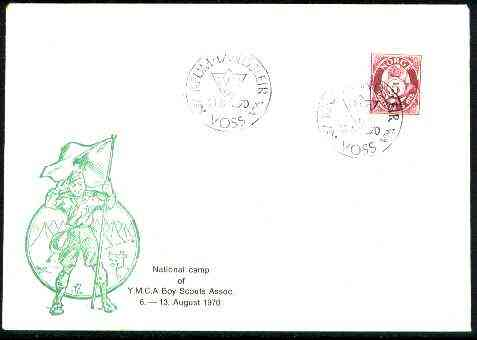 Norway 1970 Commemorative cover for Kfum Landsleir National YMCA Scout Camp with special illustrated cancel