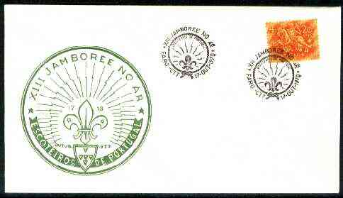 Portugal 1970 Commemorative cover for 13th Scout Jamboree with Special  Faro cancel, stamps on scouts