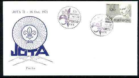 Portugal 1971 Commemorative cover for Jota 71 (14th Scout Jamboree) with Special  Porto cancel