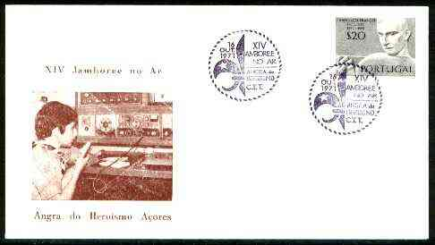 Portugal 1971 Illustrated cover (Scout Broadcasting) for 14th Scout Jamboree with Special  Angra cancel