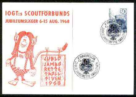 Norway 1968 Commemorative card for Trolltiven Jublo Jamboree with special illustrated cancel