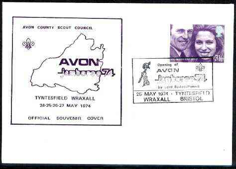 Great Britain 1974 Official souvenir cover for Avon Jamboree with special illustrated cancel