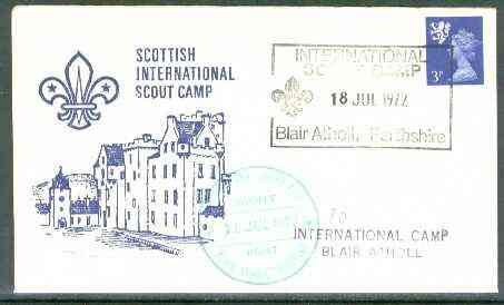 Great Britain 1972 Commemorative cover for Scottish International Scout Camp with special cancel & 'Scout Post'cachet
