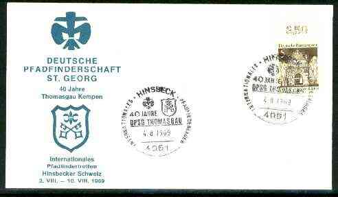 Germany - West 1969 Commemorative cover for 40th Anniversary of St Georg Scouts with special cancel