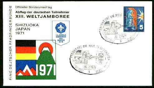 Germany - West 1971 Commemorative cover for 13th World Jamboree (Nippon) with special illustrated cancel