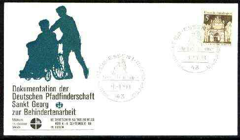 Germany - West 1968 Commemorative cover for St George Disabled Scouts with special illustrated cancel