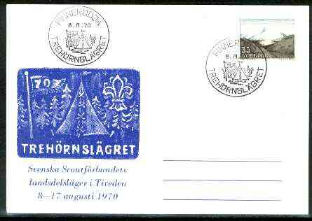 Sweden 1970 Commemorative card for Treh\9Arnsl\8Agret Scouts with special illustrated cancel