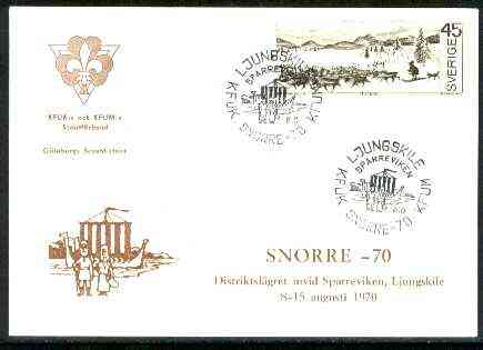 Sweden 1970 Commemorative card for Goteborg 'Snorre 70' Scouts with special illustrated (Viking Boat) cancel