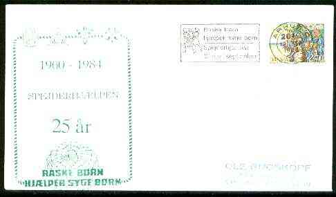 Denmark 1984 Commemorative cover for 25th Anniversary of Arhus Spejderhjaelpen Scouts with special illustrated cancel