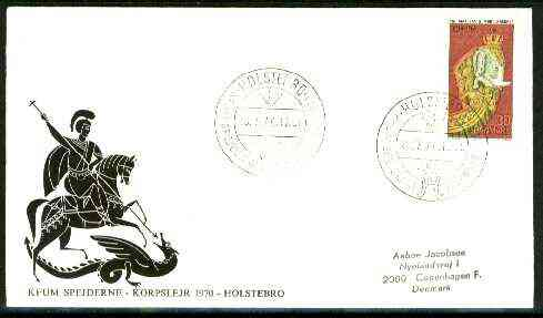 Denmark 1970 Illustrated cover (St George & Dragon) for Holstebro Scouts with special illustrated cancel